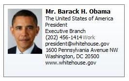 Mr. Barach H. Obama